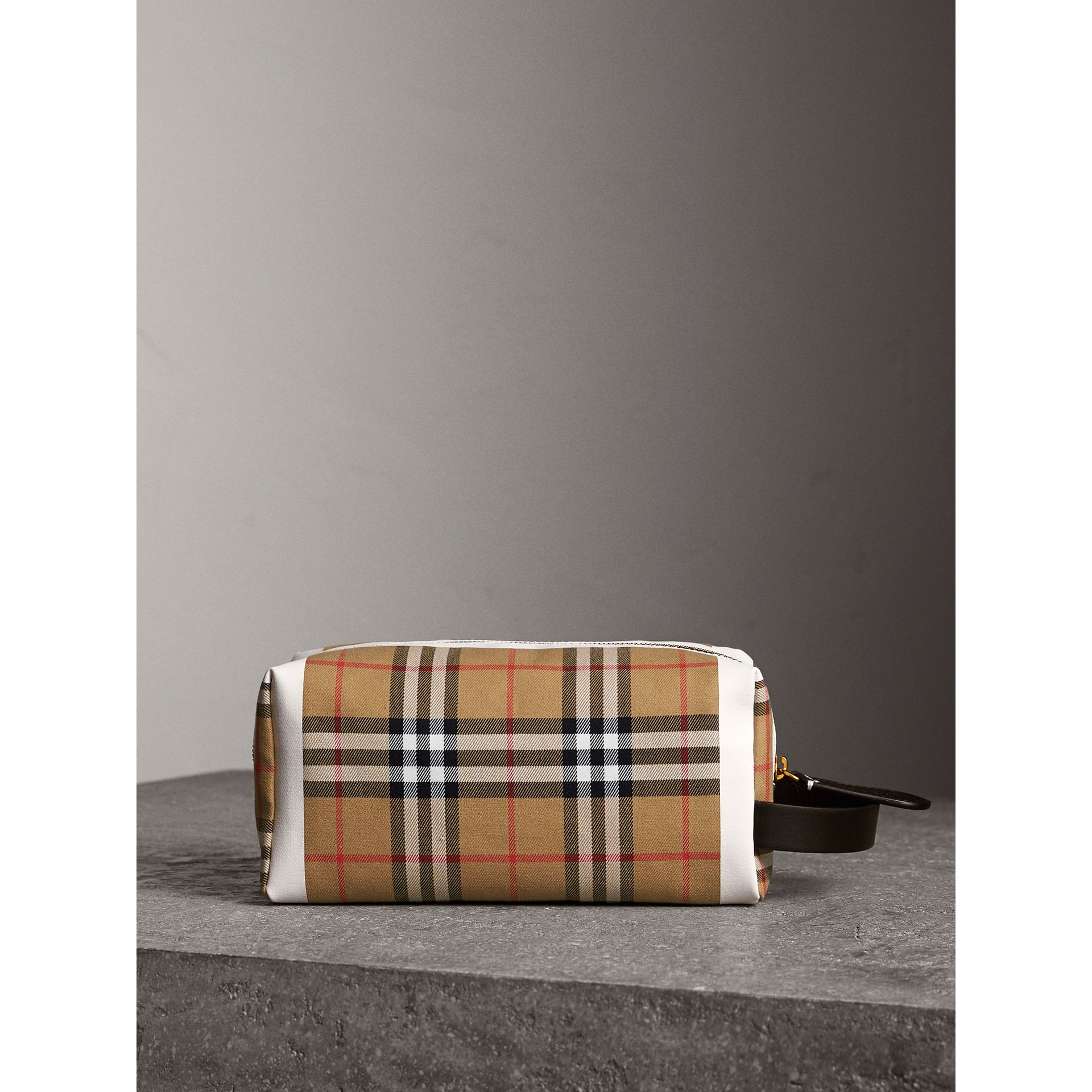 Vintage Check and Tartan Cotton Pouch in Antique Yellow/ochre Yellow | Burberry Singapore - gallery image 7