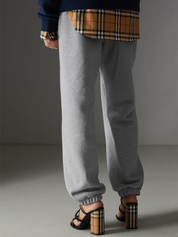 Archive Logo Jersey Sweatpants in Grey Melange - Women | Burberry - cell image 2