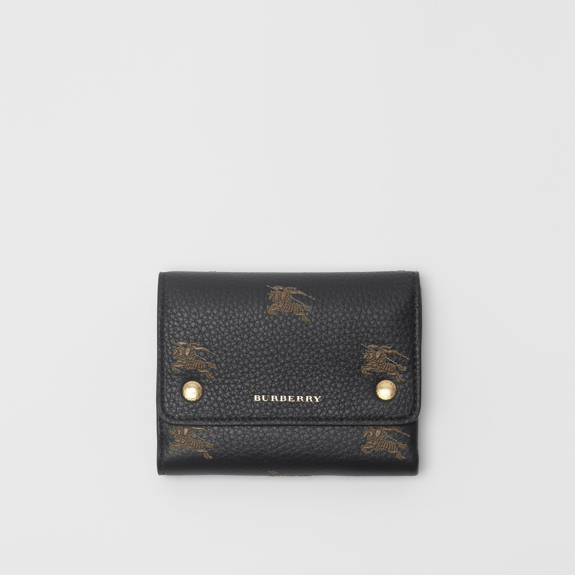 Small EKD Leather Wallet in Black - Women | Burberry - gallery image 0