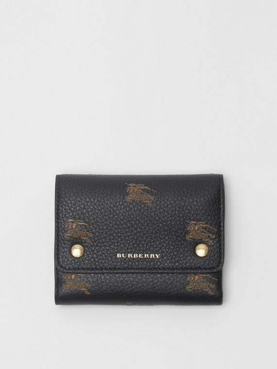 Small EKD Leather Wallet in Black