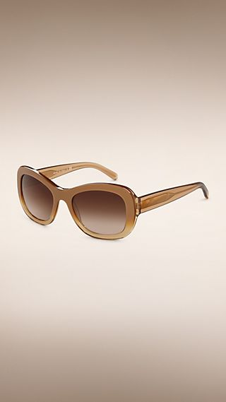 Trench Collection Round Frame Sunglasses Light Gold