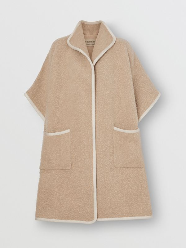 Wool Fleece Cape in Sand - Women | Burberry United States - cell image 3