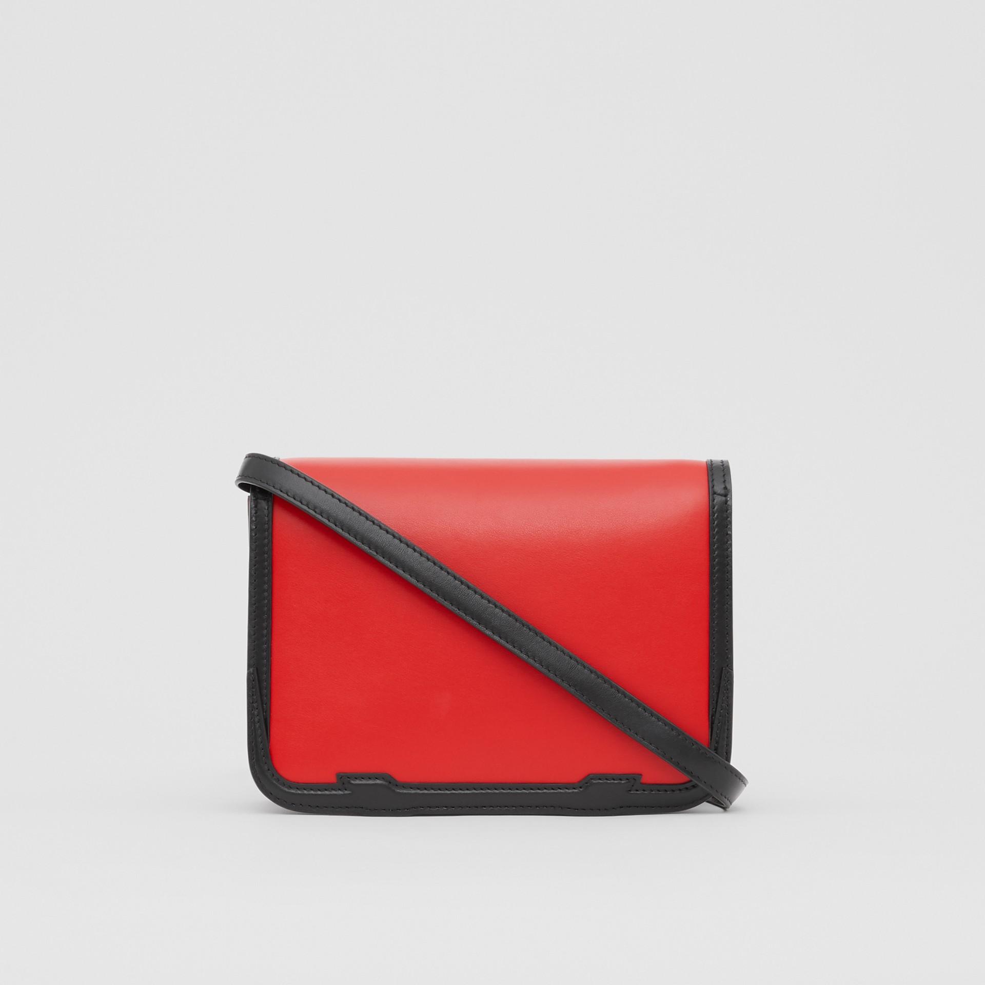 Petit sacTB en cuir avec appliqué (Rouge Vif) - Femme | Burberry - photo de la galerie 7