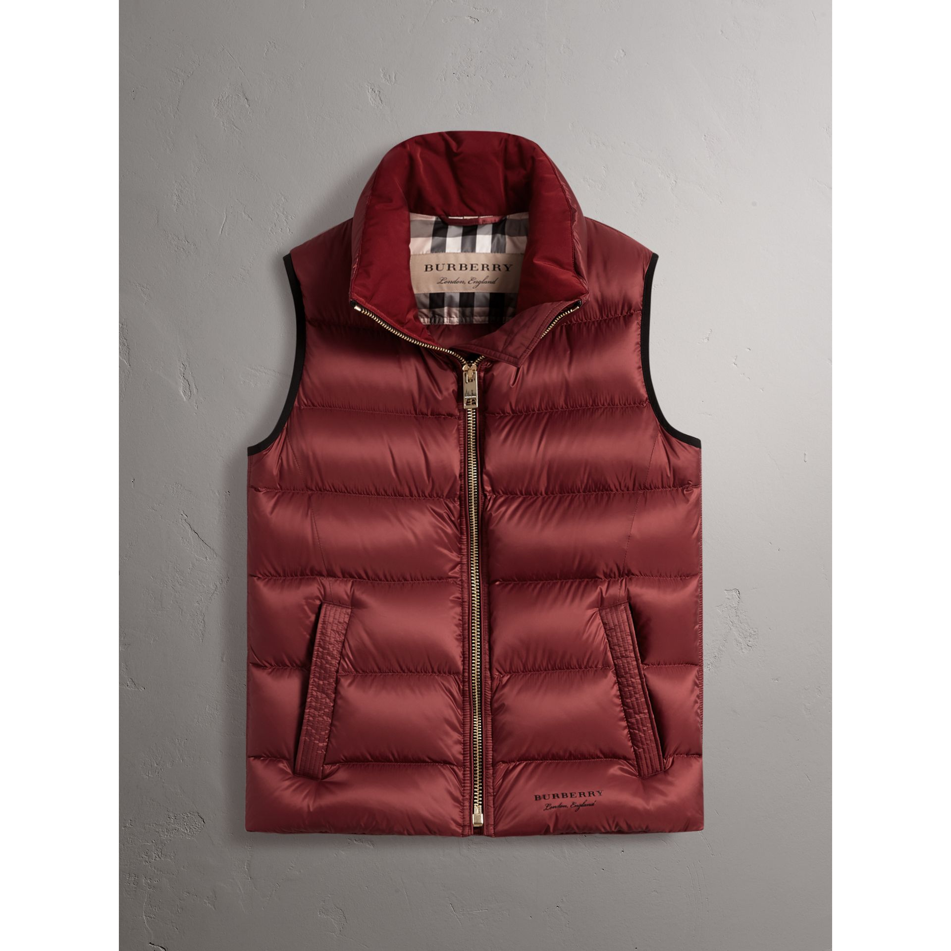 Down-filled Gilet in Military Red - Women | Burberry - gallery image 4