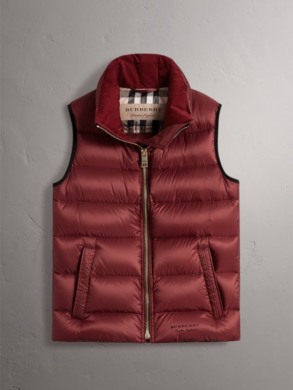 Down-filled Gilet in Military Red - Women | Burberry - cell image 3