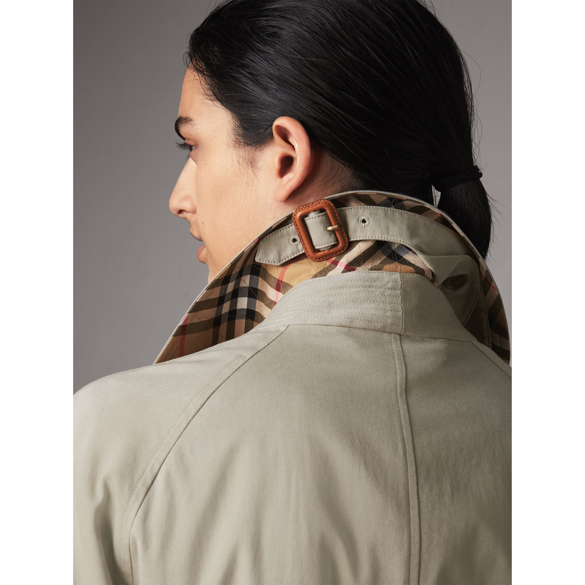 The Brighton – Extra-long Car Coat in Sandstone - Women | Burberry Singapore - gallery image 2