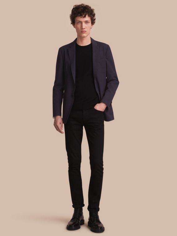 Stretch Cotton Seersucker Blazer - Men | Burberry Australia