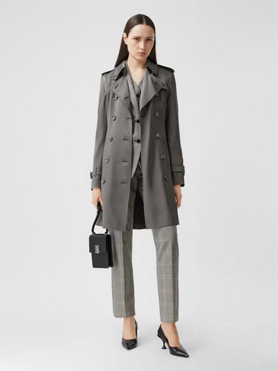 Silk Trench Coat in English Grey