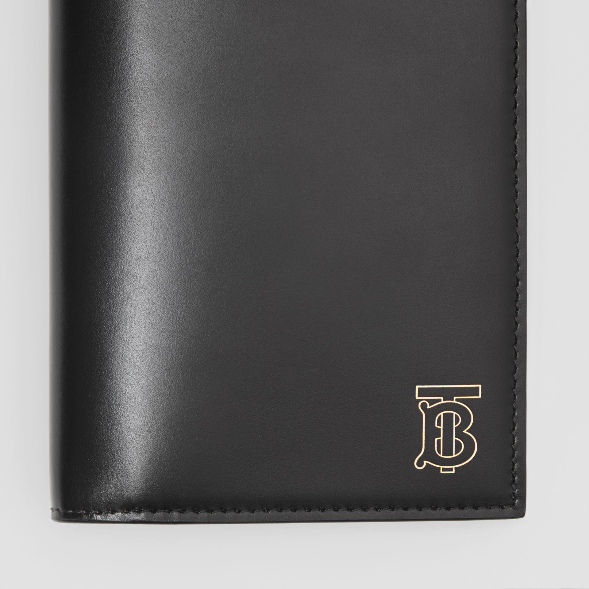 Monogram Motif Leather Continental Wallet in Black - Men | Burberry - gallery image 1