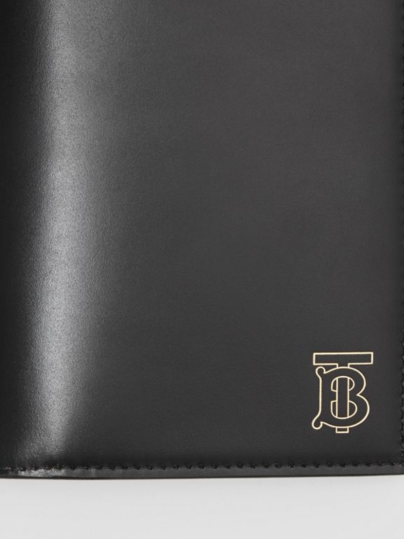 Monogram Motif Leather Continental Wallet in Black - Men | Burberry - cell image 1