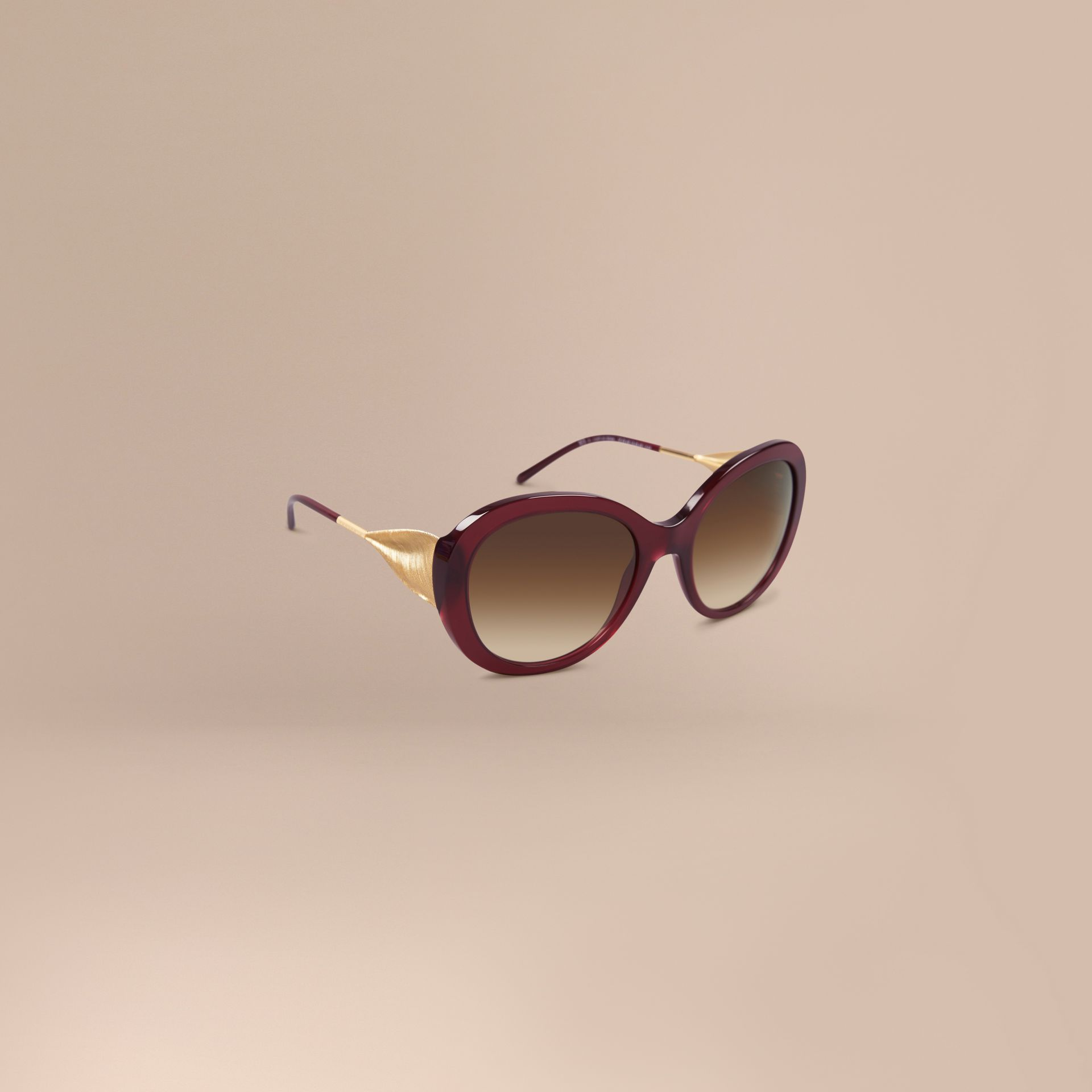 Oxblood Oversize Round Frame Sunglasses Oxblood - gallery image 1