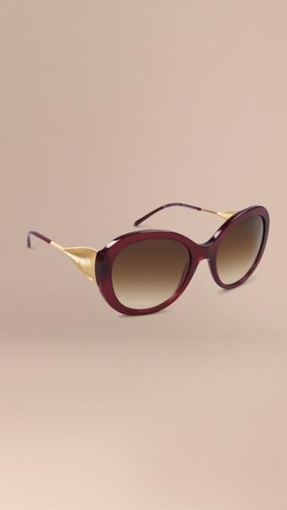 Oversize Round Frame Sunglasses