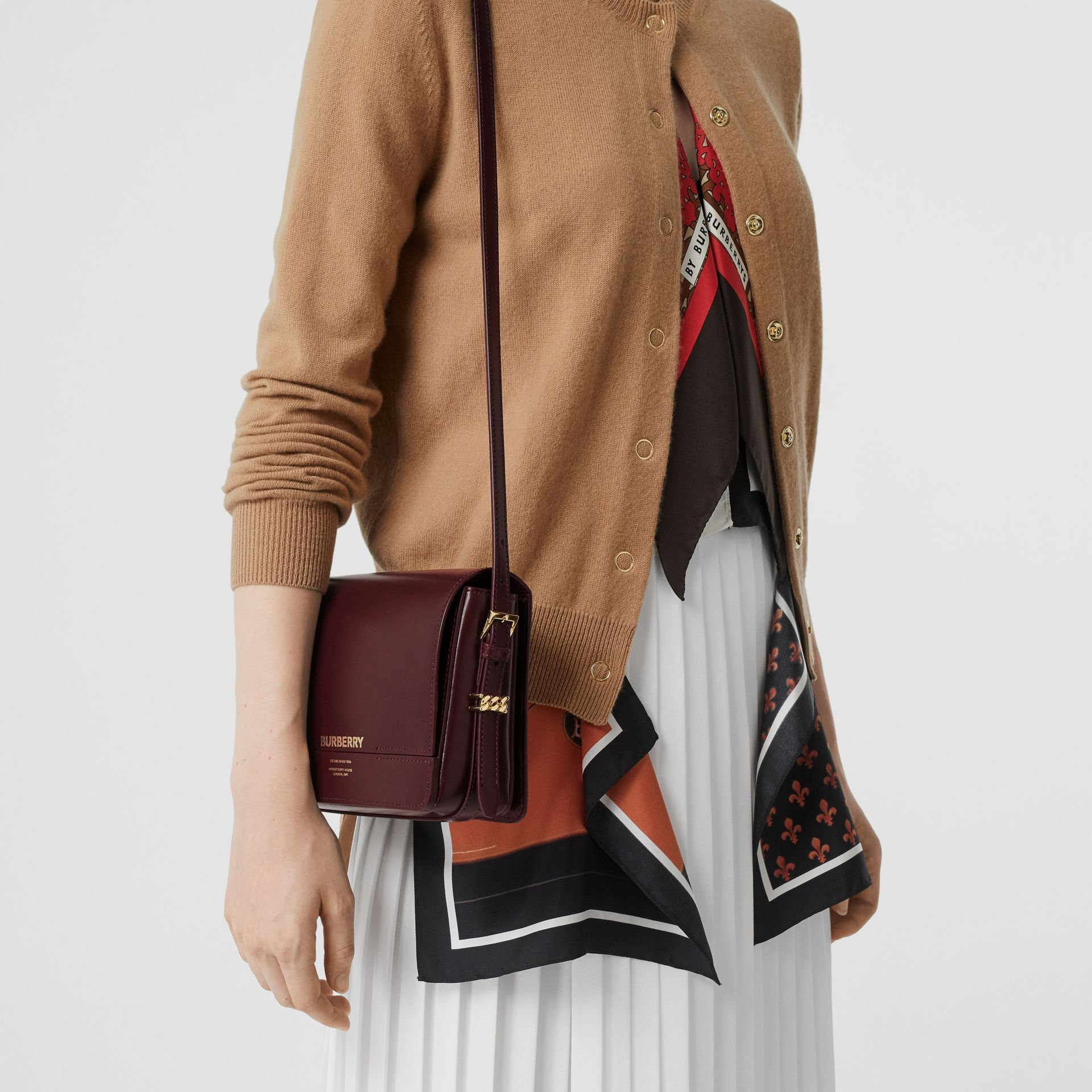 Petit sac Grace en cuir (Oxblood) - Femme | Burberry - photo de la galerie 2