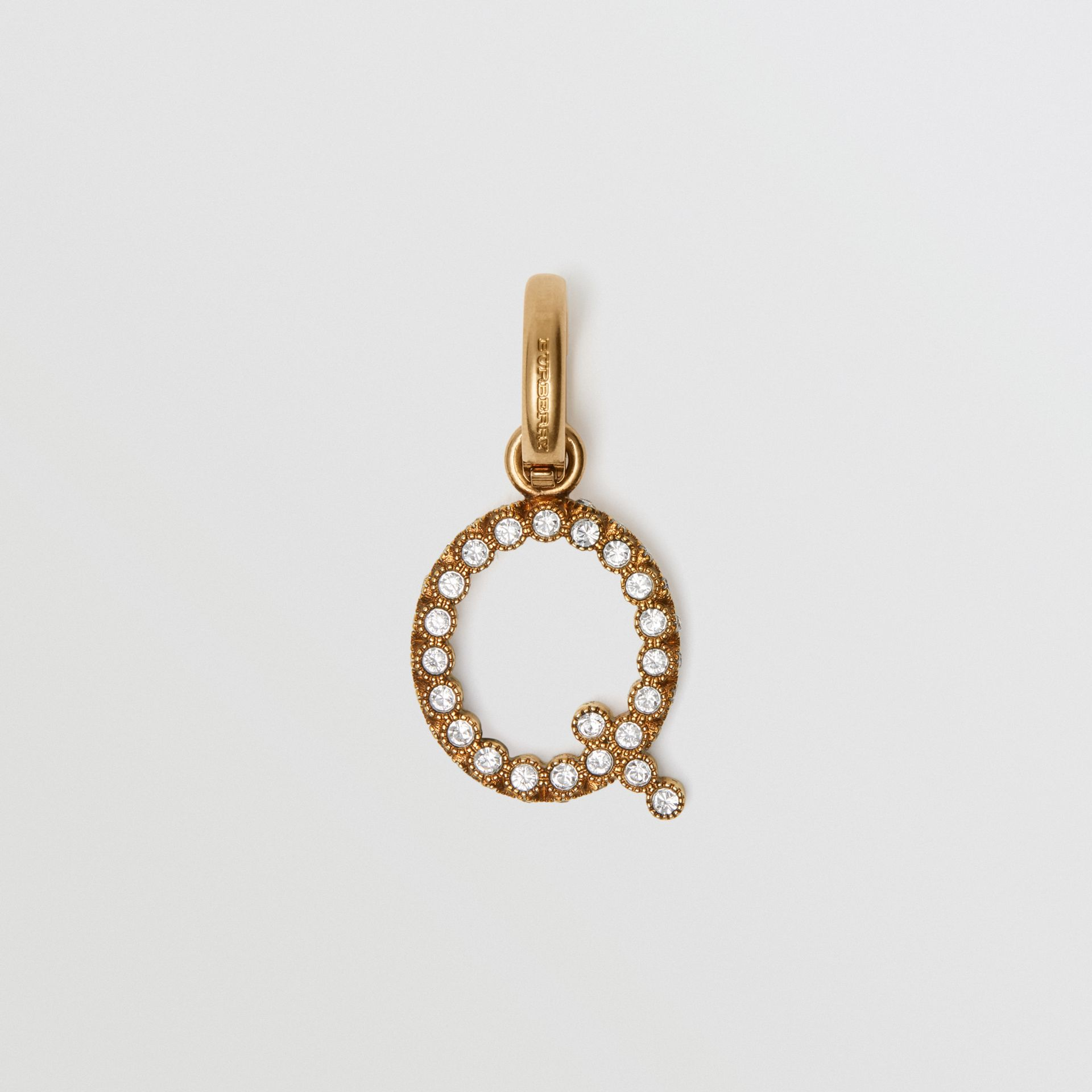 Crystal 'Q' Alphabet Charm - Women | Burberry United Kingdom - gallery image 0