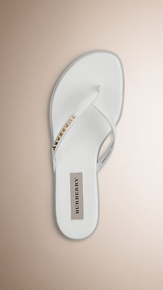 Patent London Leather Flip Flops