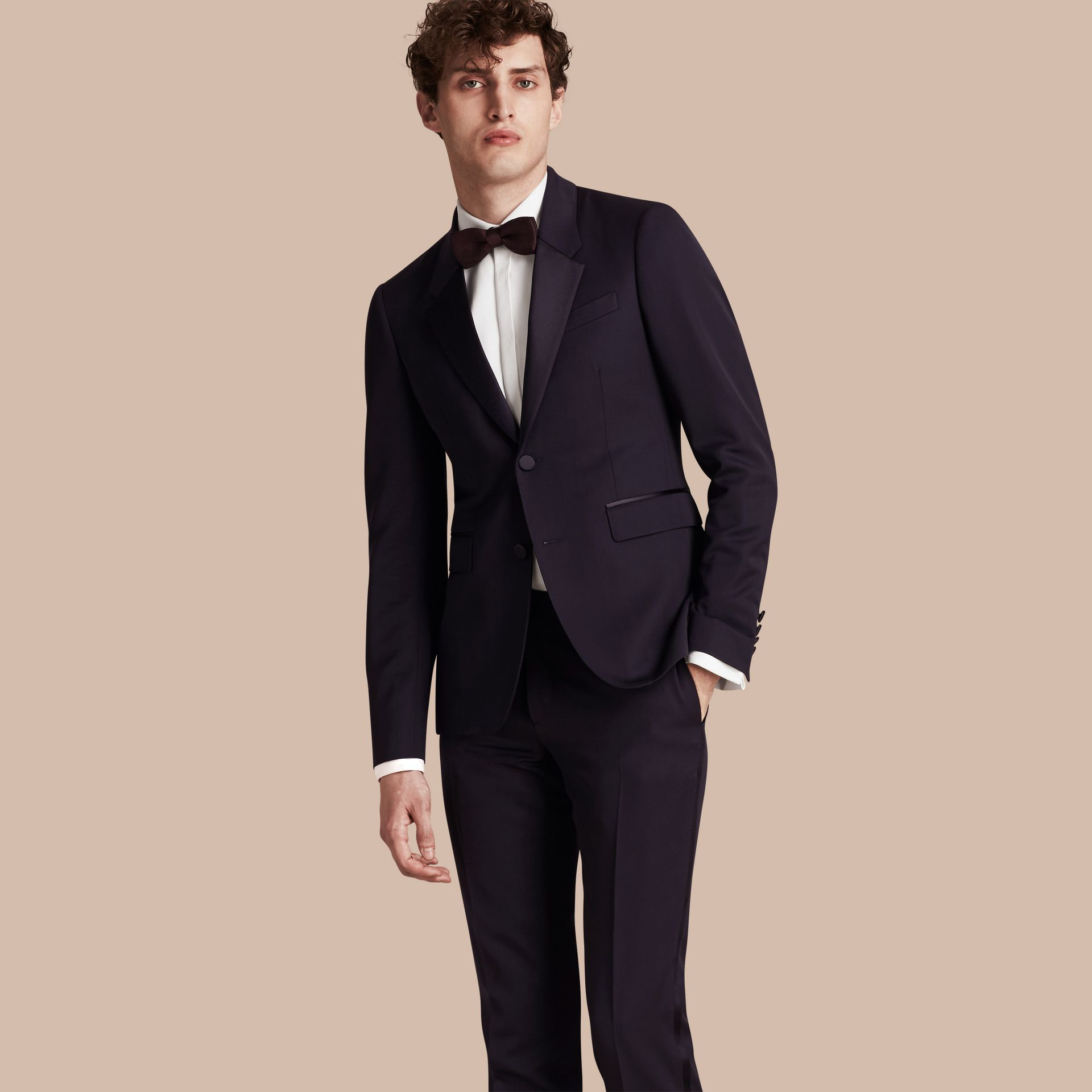 Slim Fit Wool Tuxedo Jacket - gallery image 1