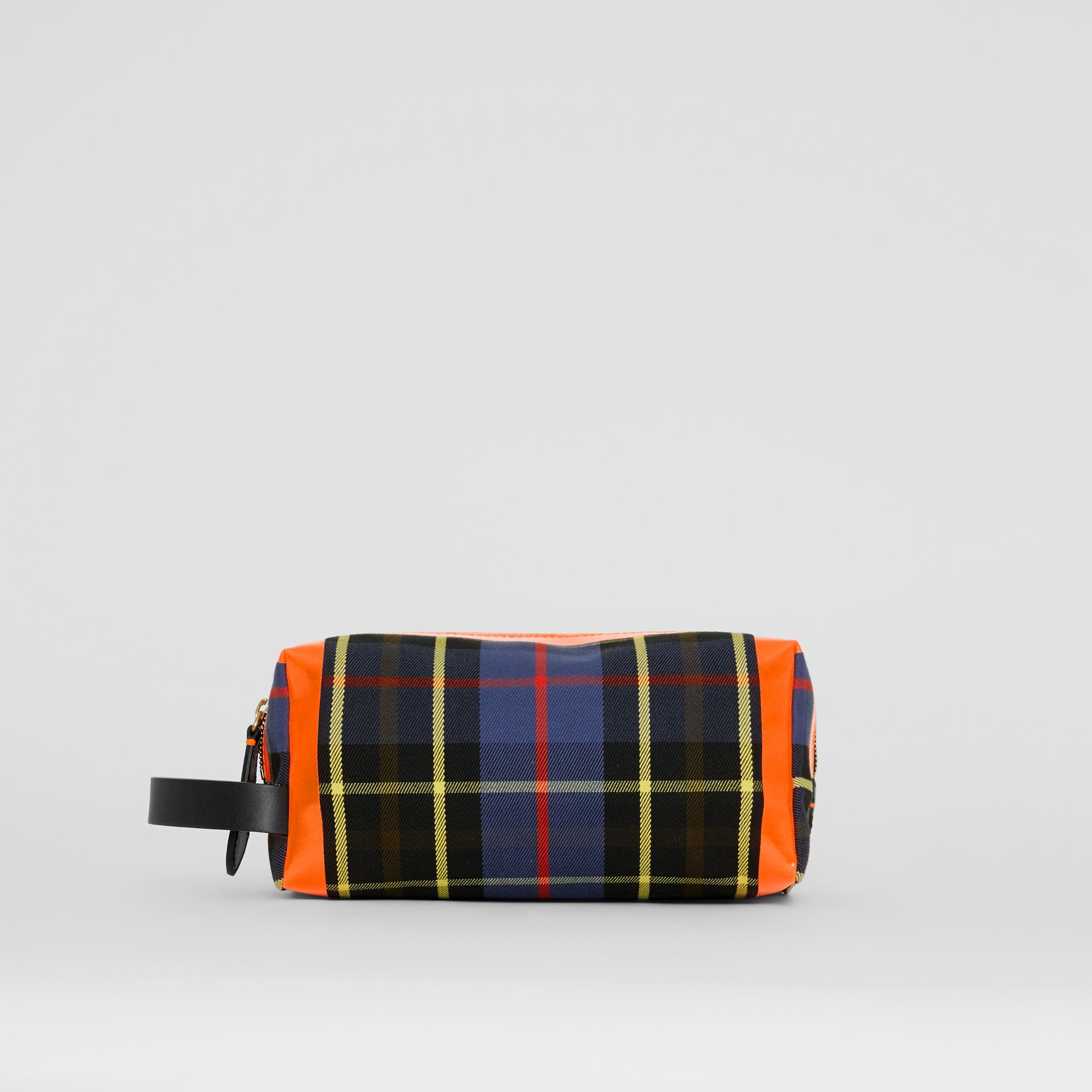 Tartan Cotton Pouch in Cobalt | Burberry - gallery image 3