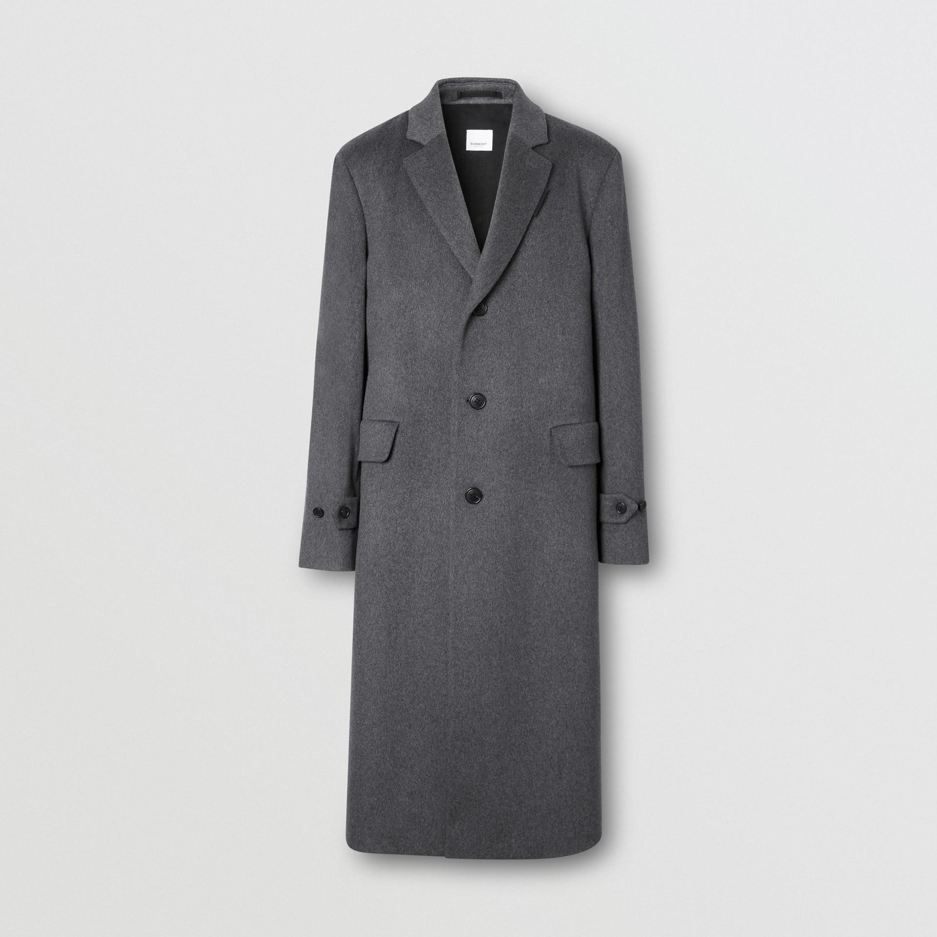 Cashmere Lab Coat in Pewter Melange - Men   Burberry - gallery image 3