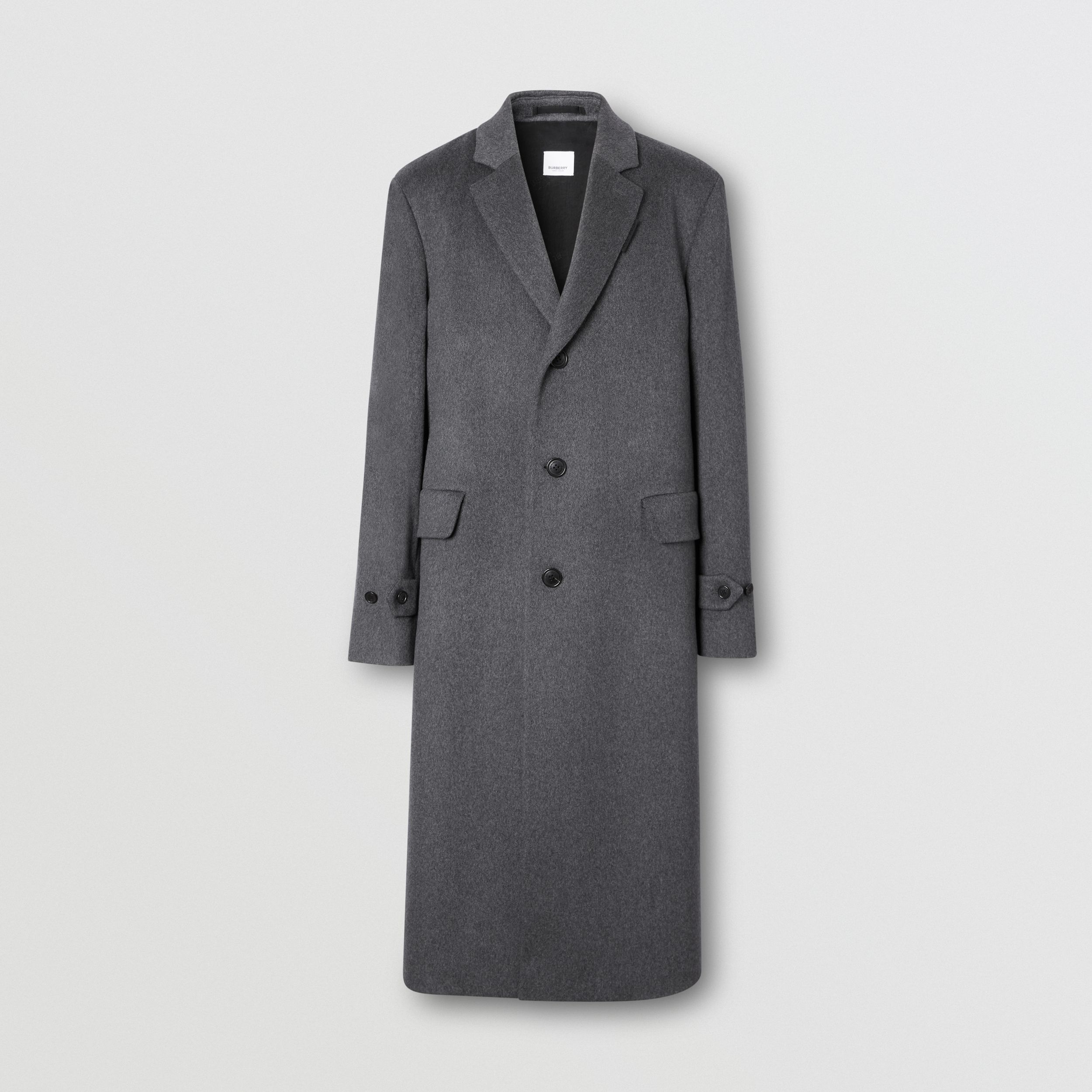 Cashmere Lab Coat in Pewter Melange - Men | Burberry Hong Kong S.A.R - 4