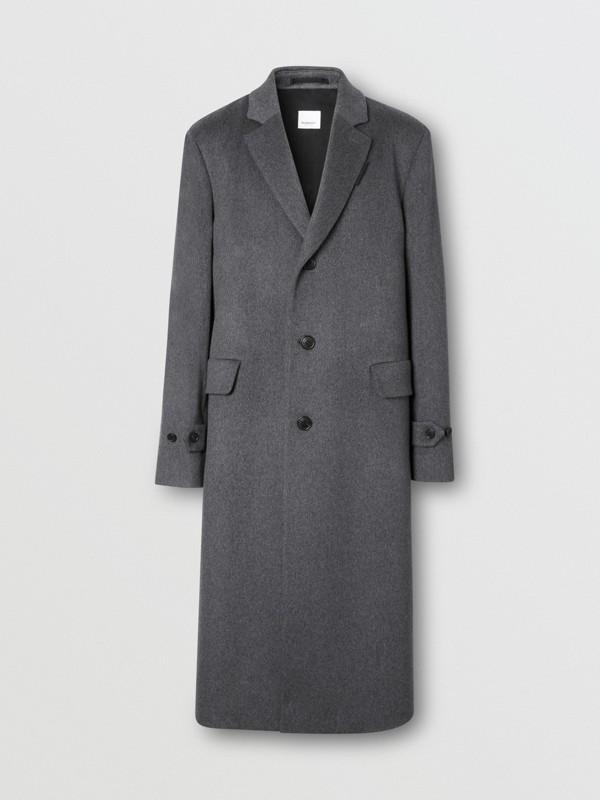 Cashmere Lab Coat in Pewter Melange - Men   Burberry - cell image 3