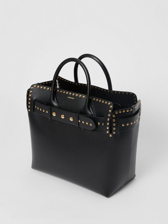 2bed25875e The Medium Studded Leather Triple Stud Belt Bag in Black