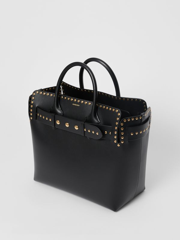 The Medium Studded Leather Triple Stud Belt Bag in Black - Women | Burberry Australia - cell image 3