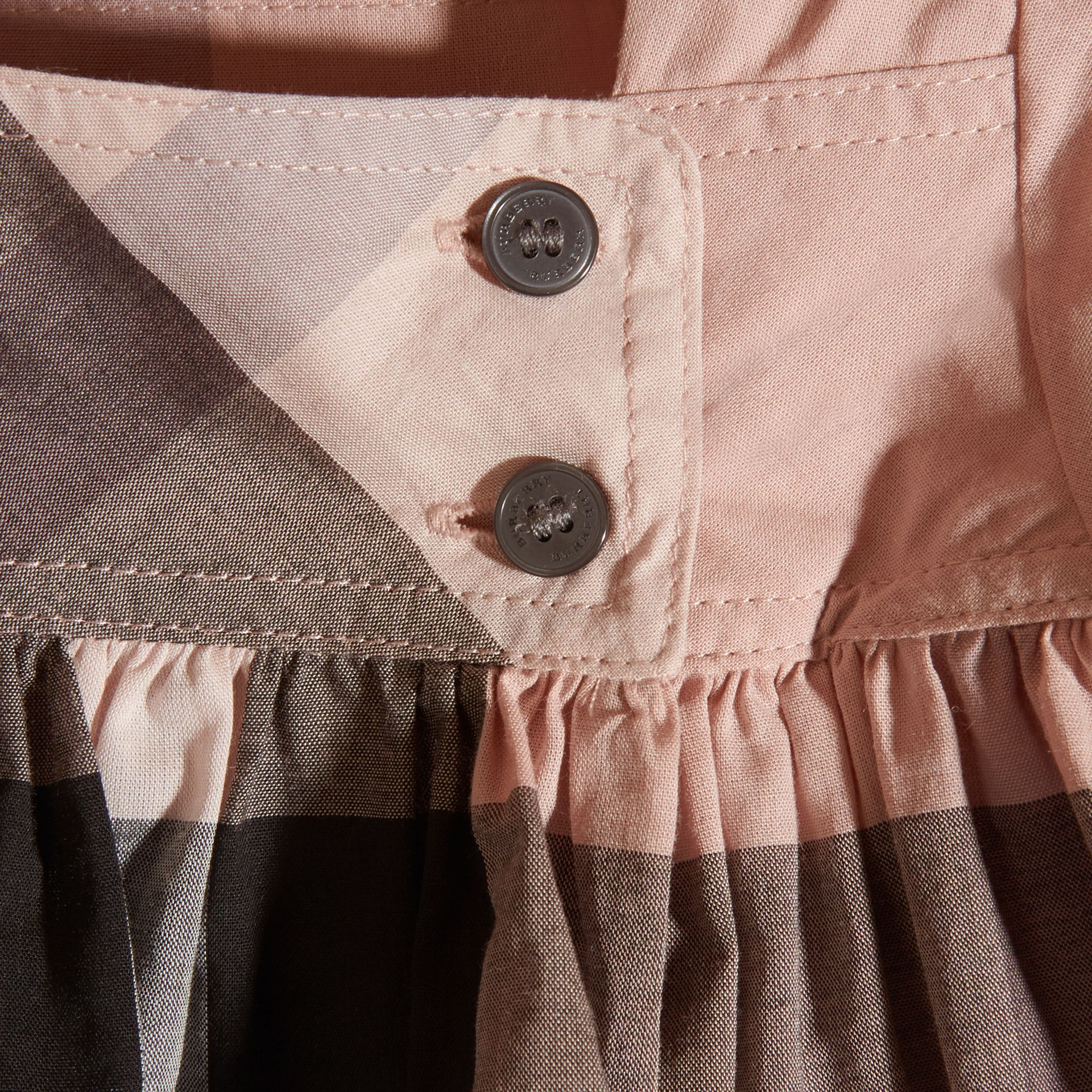 Antique pink Check Cotton Dress - gallery image 2