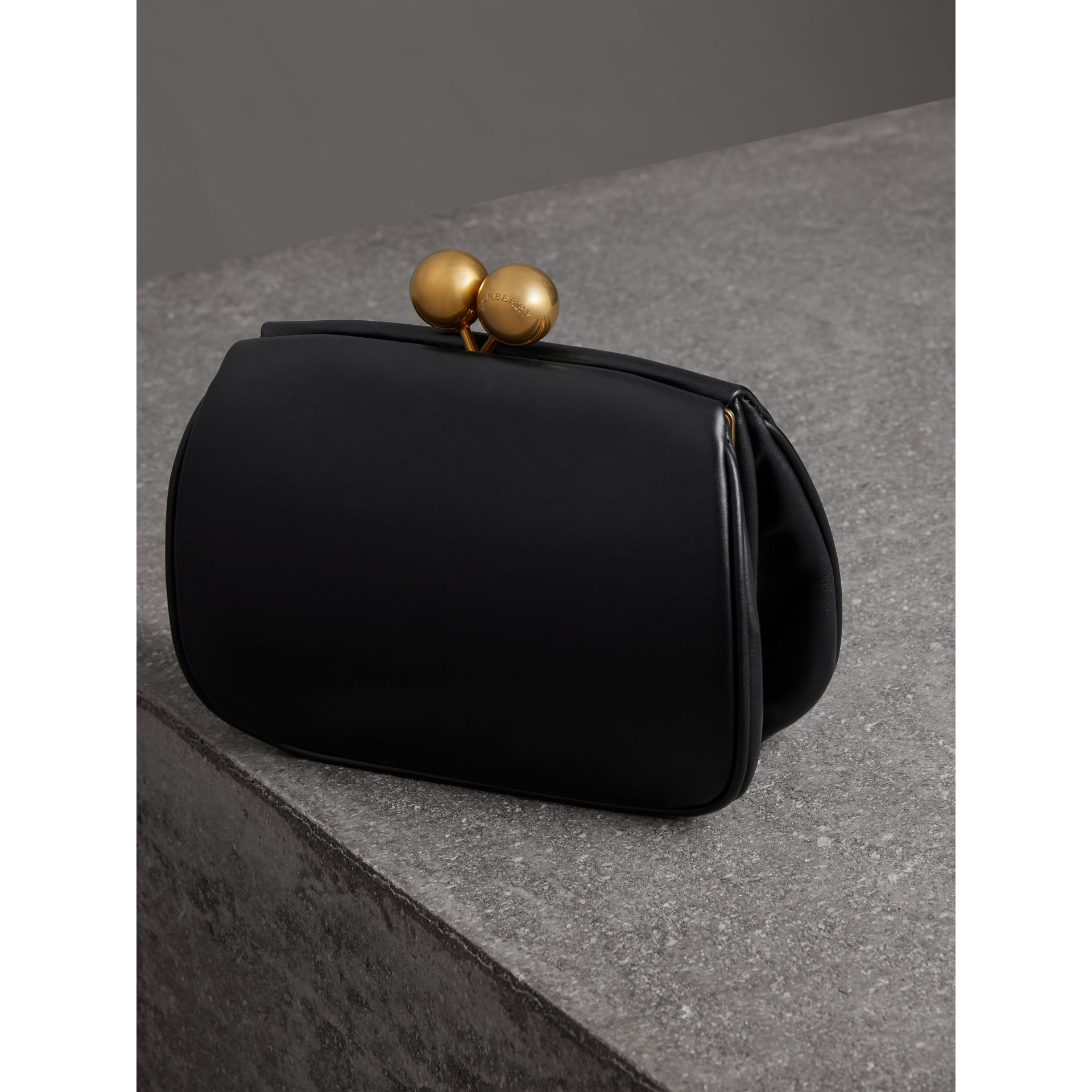 Small Leather Frame Bag in Black - Women | Burberry - gallery image 2