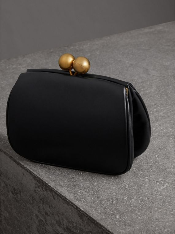 Small Leather Frame Bag in Black - Women | Burberry - cell image 2
