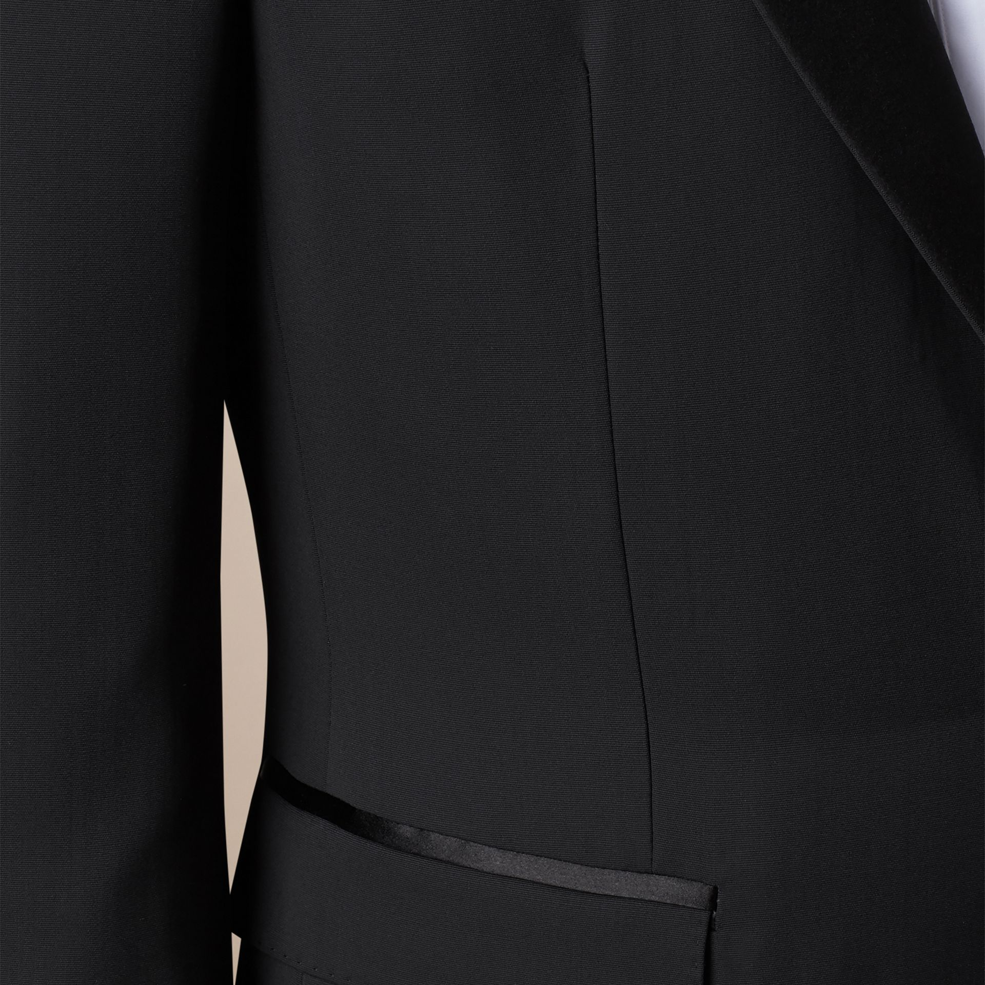 Satin Lapel Tuxedo Jacket Black - gallery image 2