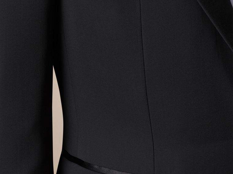 Black Satin Lapel Tuxedo Jacket - cell image 1