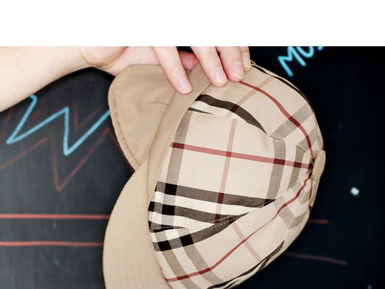 Gosha x Burberry Baseball Cap in Honey | Burberry Singapore - cell image 4