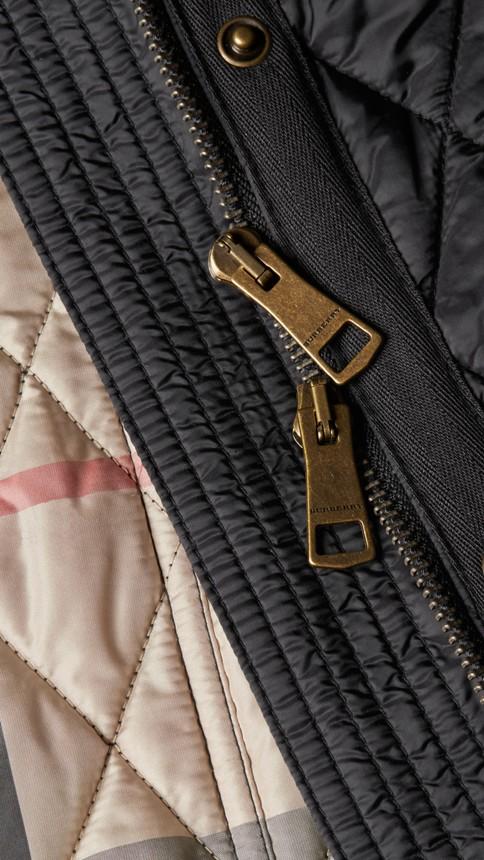 Black Diamond Quilted Coat Black - Image 2