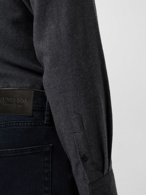 Slim Fit Stretch Denim Jeans in Dark Indigo - Men | Burberry Singapore - cell image 1