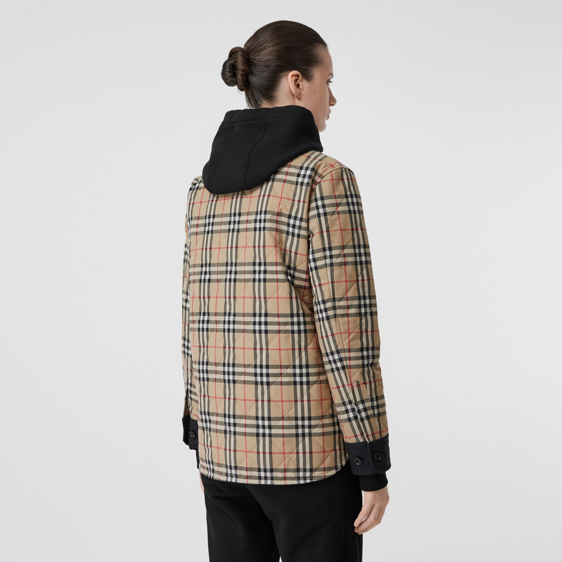 Vintage Check Wool Flannel Overshirt in Archive Beige - Women | Burberry United States - gallery image 2