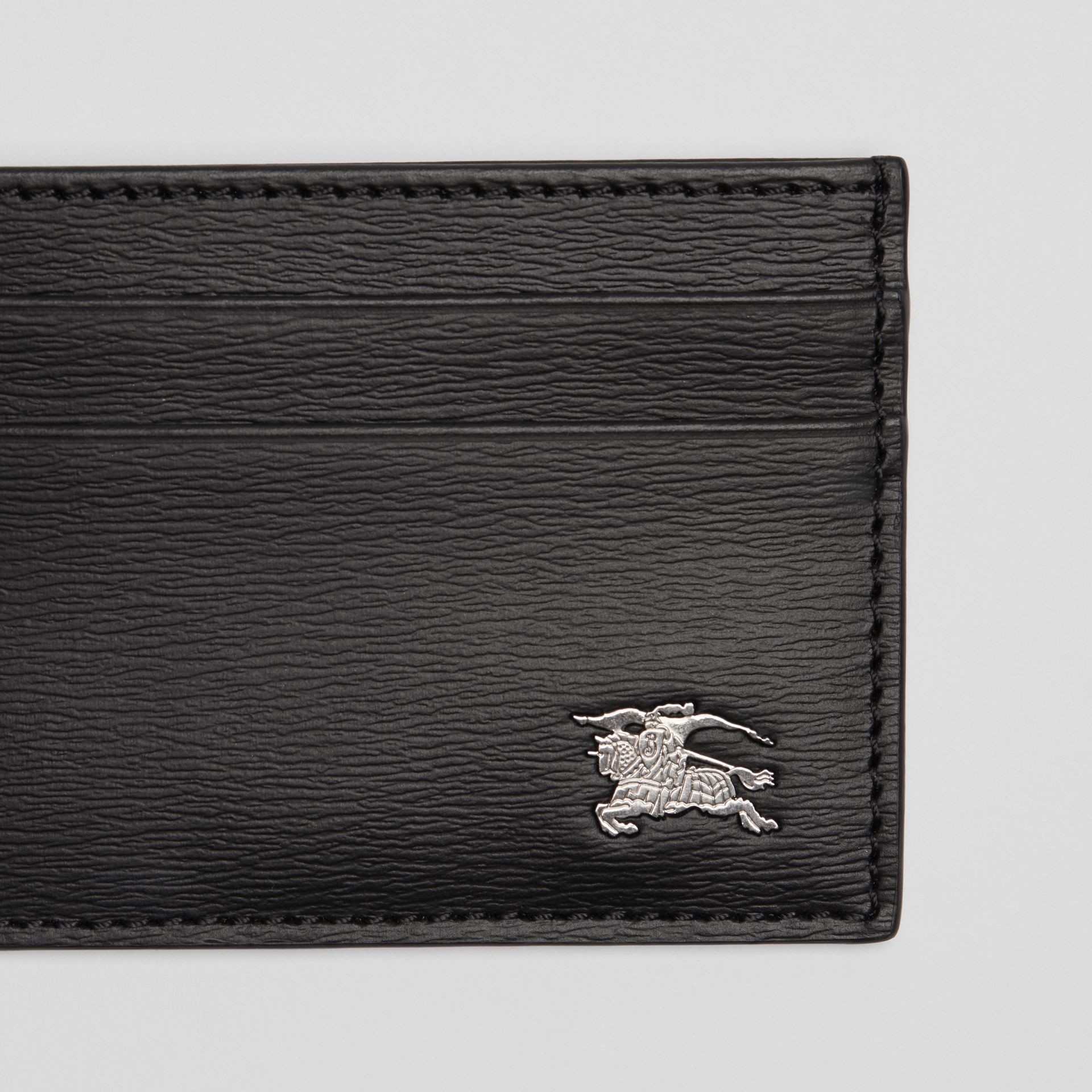 London Leather Card Case in Black - Men | Burberry - gallery image 1