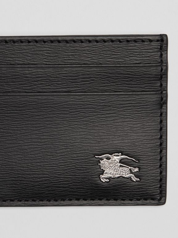 London Leather Card Case in Black - Men | Burberry - cell image 1
