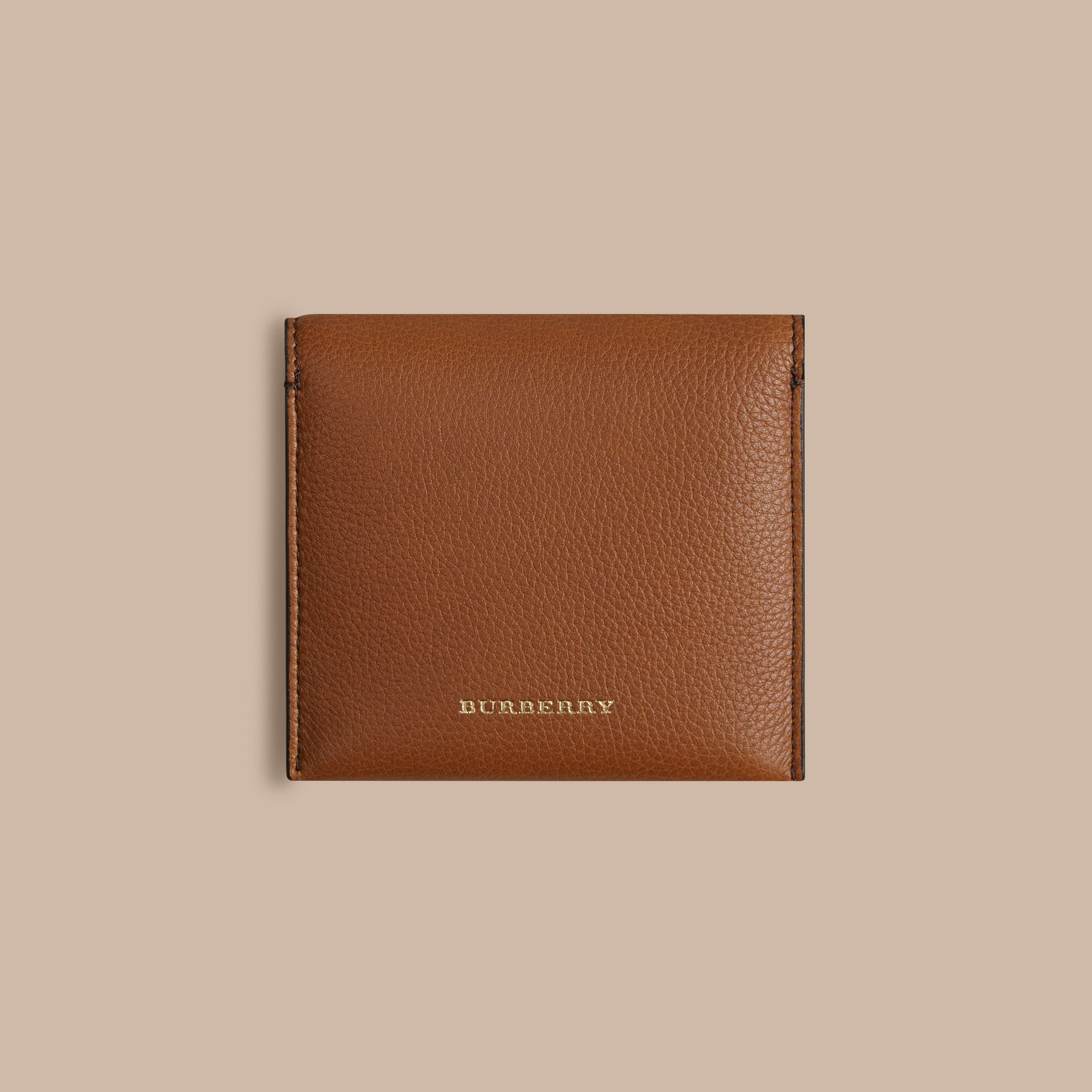 Grainy Leather Cufflink Case in Tan - Men | Burberry - gallery image 3