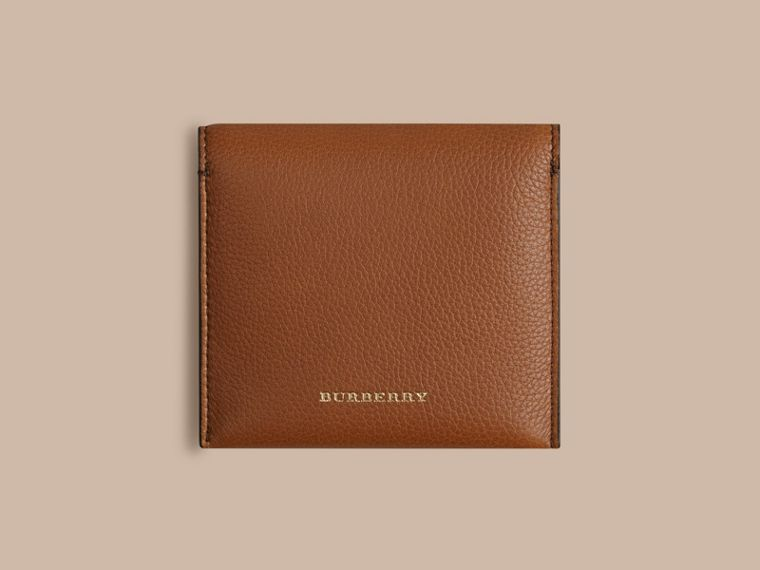 Grainy Leather Cufflink Case in Tan - Men | Burberry - cell image 2