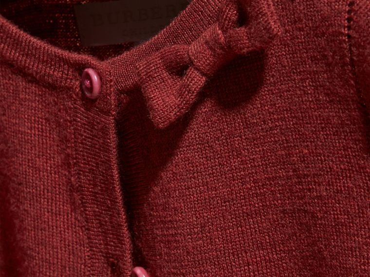 Dark plum pink Lightweight Merino Wool Cardigan Dark Plum Pink - cell image 1