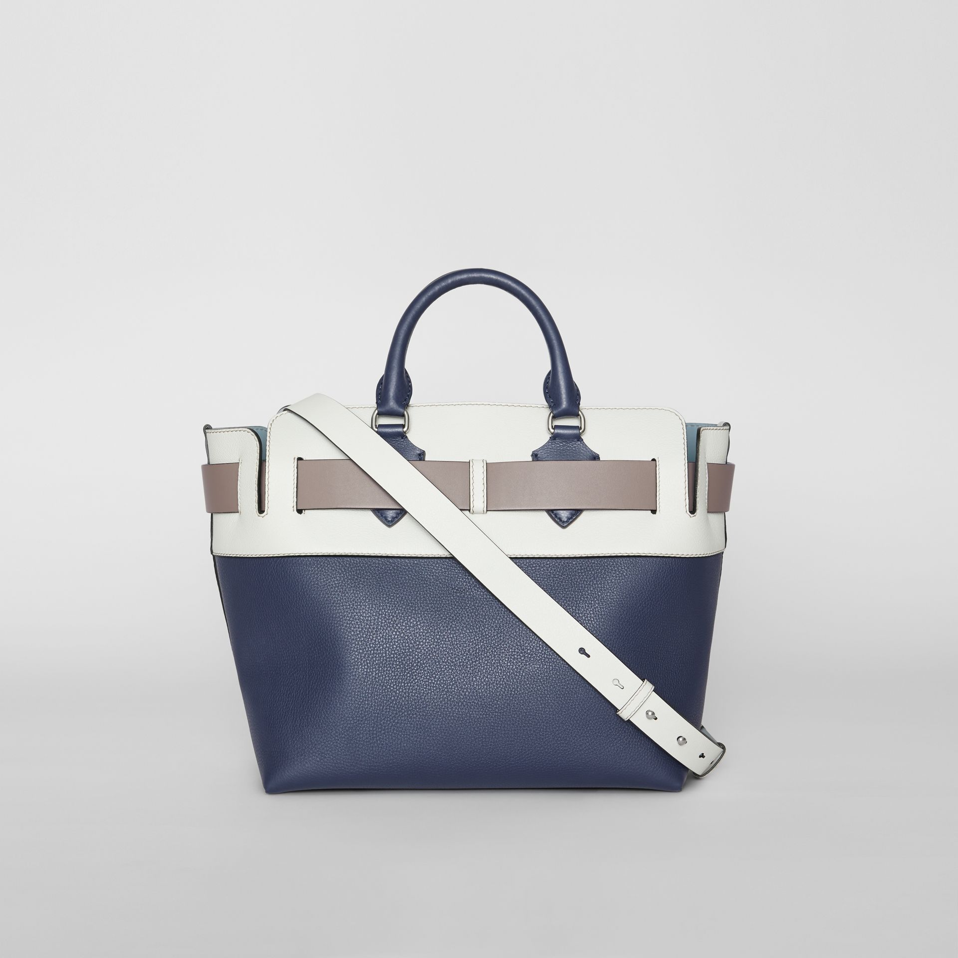 The Medium Tri-tone Leather Belt Bag in Regency Blue - Women | Burberry Singapore - gallery image 7