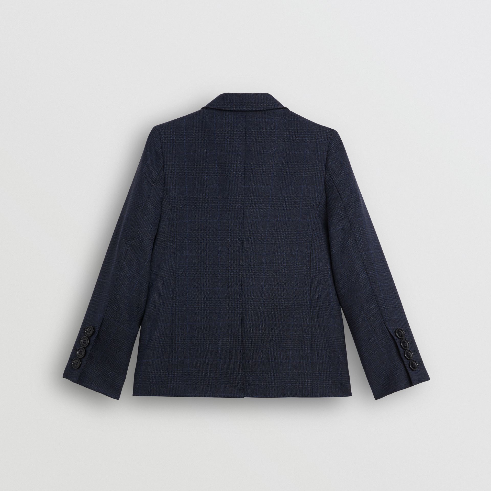 Prince of Wales Check Wool Blazer in Bright Navy | Burberry Australia - gallery image 3