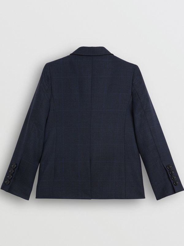 Prince of Wales Check Wool Blazer in Bright Navy | Burberry Australia - cell image 3