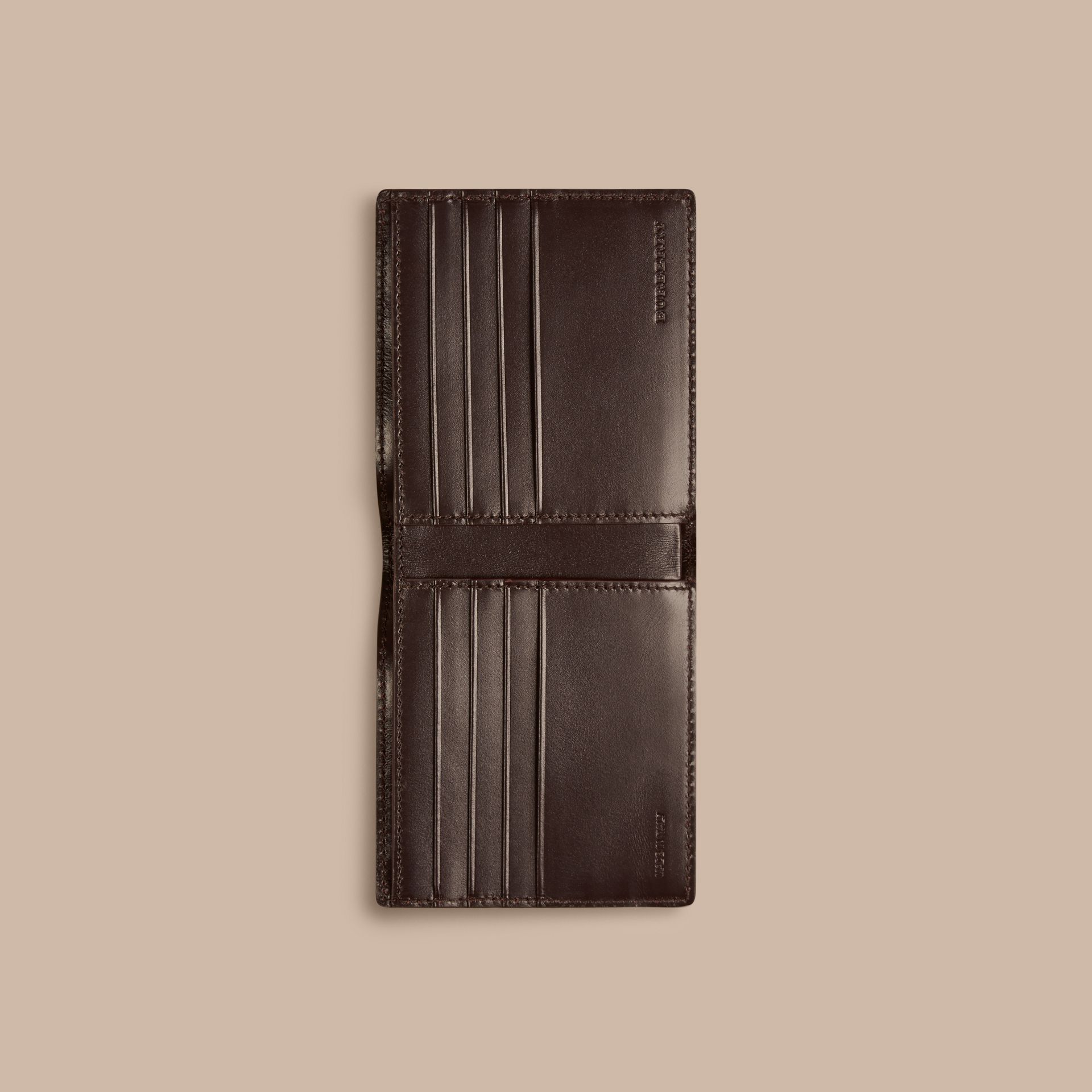 Wine London Leather Folding Wallet Wine - gallery image 4