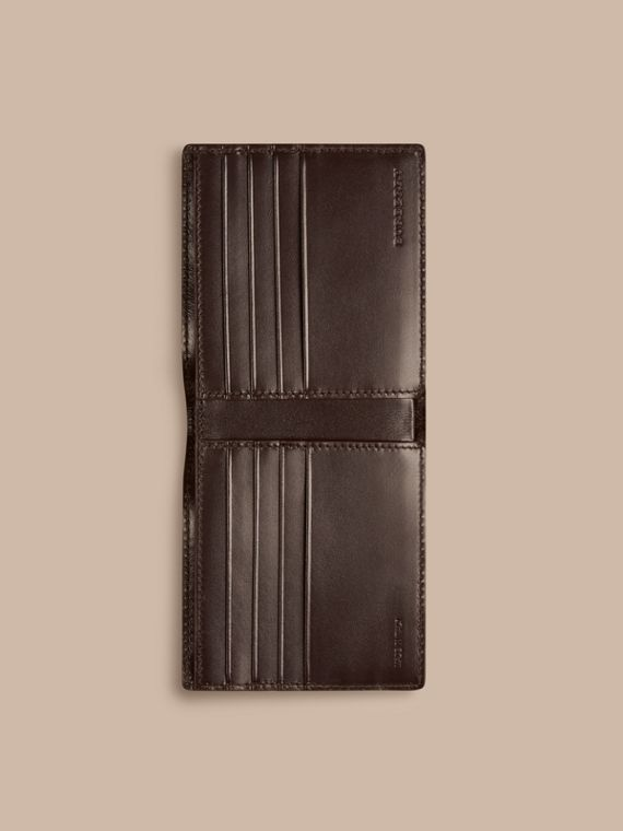 Wine London Leather Folding Wallet Wine - cell image 3