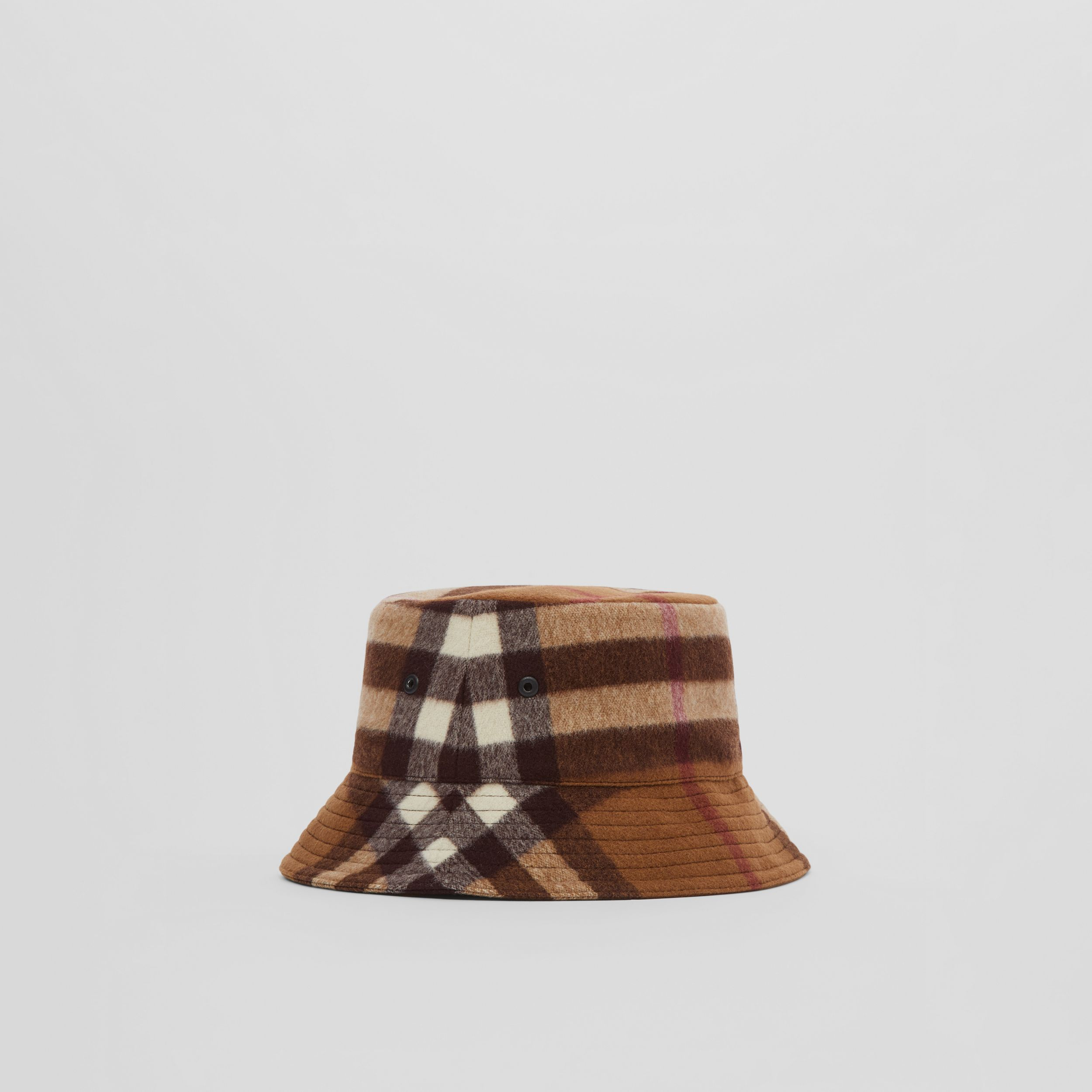 Check Wool Bucket Hat in Birch Brown | Burberry - 4