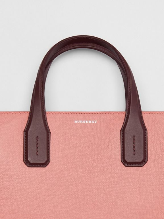 The Medium Banner in Two-tone Leather in Dusty Rose/deep Claret - Women | Burberry - cell image 1