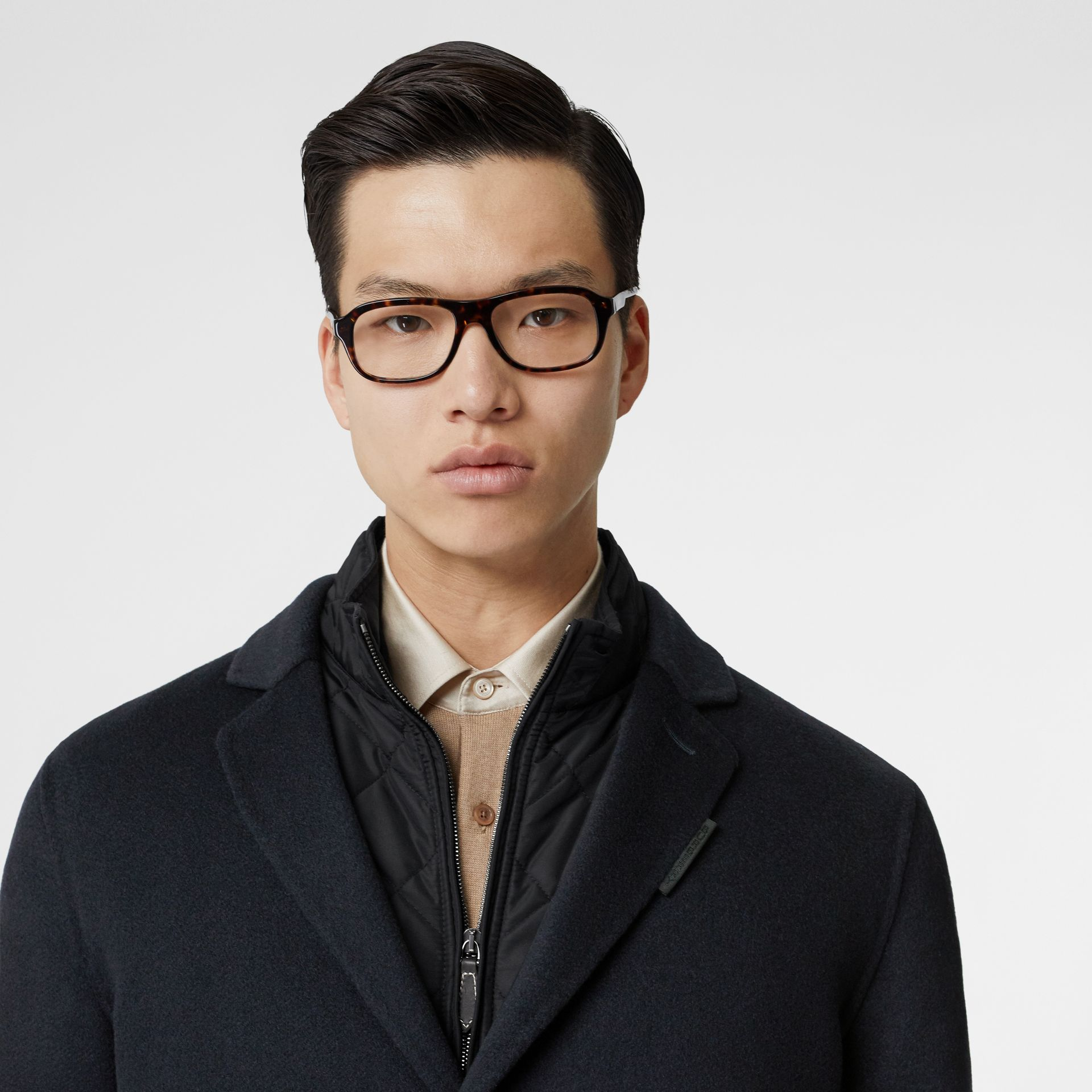Cashmere Lab Coat in Navy - Men | Burberry Australia - gallery image 1