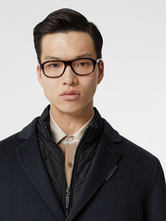 Cashmere Lab Coat in Navy - Men | Burberry Australia - cell image 1