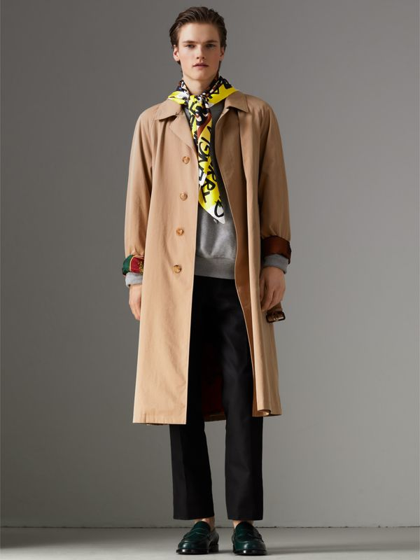 Graffiti Archive Scarf Print Silk Square Scarf in Bright Yellow | Burberry - cell image 3